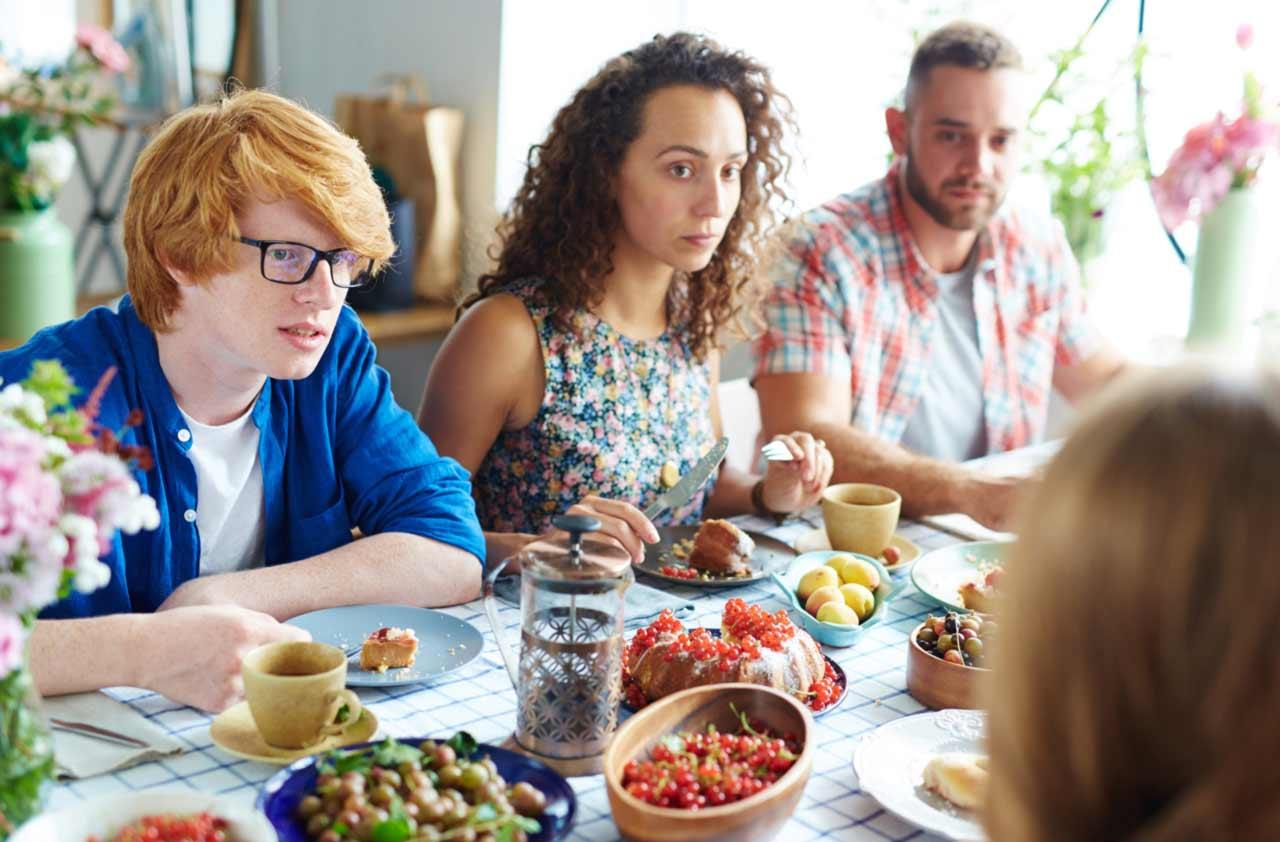 refeições em família adolescentes